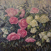 Картины и панно handmade. Livemaster - original item Oil painting of a Rose in the morning dew. Handmade.