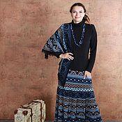 Одежда ручной работы. Ярмарка Мастеров - ручная работа Вязаная юбка с косынкой. Handmade.