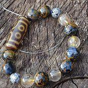 Украшения handmade. Livemaster - original item Luxury Petersite Bracelet with Ji 7 Eye Bead. Handmade.