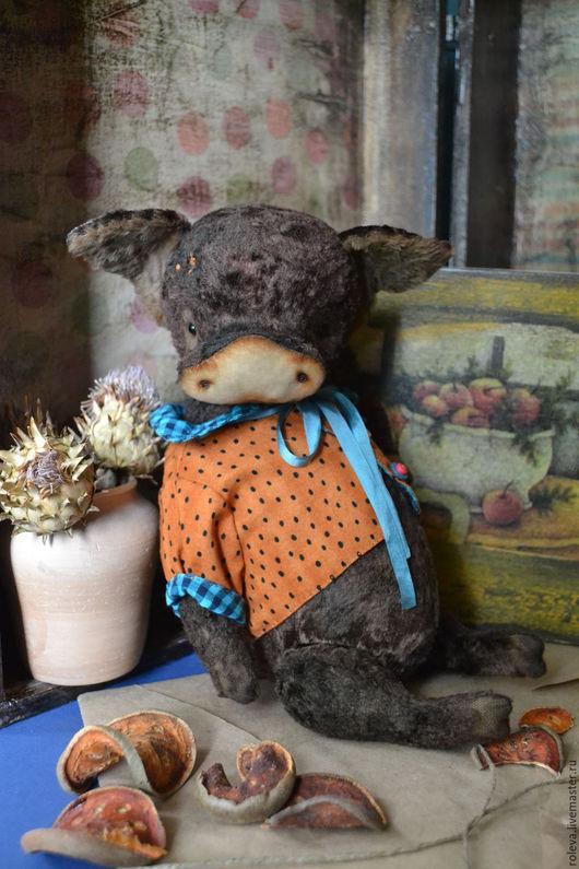 Мишки Тедди ручной работы. Ярмарка Мастеров - ручная работа. Купить Епифан. Handmade. Коричневый, свинка, интерьерная композиция