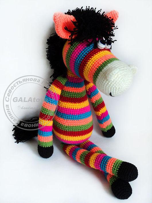 Animal Toys handmade. Livemaster - handmade. Buy Toy Rainbow Horse (60cm).Knitted toy, rainbow, baby gift
