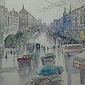 Картины и панно ручной работы. Ярмарка Мастеров - ручная работа Москва, 50-е. Handmade.