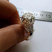 Украшения handmade. Livemaster - original item Ring with pearl, 925 sterling silver.. Handmade.