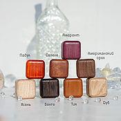 Упаковка ручной работы. Ярмарка Мастеров - ручная работа Мини-коробочки для колец деревянные Мягкий куб. Handmade.