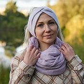 Аксессуары handmade. Livemaster - original item bandage: Headband knitted warm from Angora. Handmade.