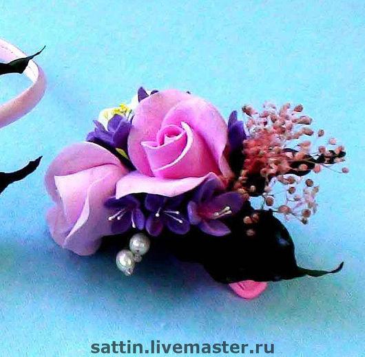 Заколки ручной работы. Ярмарка Мастеров - ручная работа. Купить Заколки с цветами. Handmade. Заколка-цветок, украшения с жемчугом