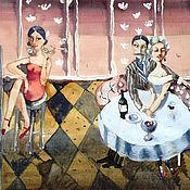 """Картины и панно ручной работы. Ярмарка Мастеров - ручная работа """"Жизнь - сложная штука""""))) акварель. Handmade."""