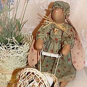 Куклы и игрушки ручной работы. Ярмарка Мастеров - ручная работа Зайка с коляской.. Handmade.