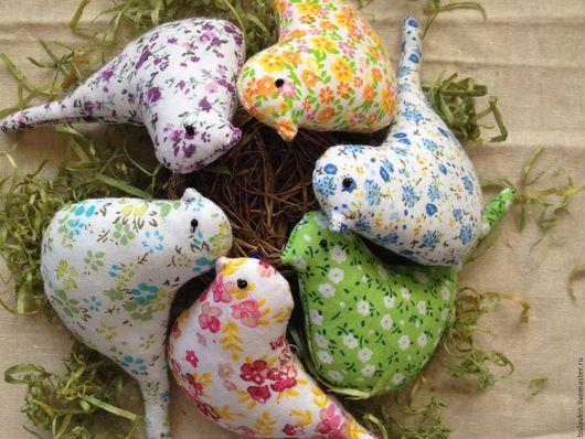Игрушки животные, ручной работы. Ярмарка Мастеров - ручная работа. Купить Весенние птички. Handmade. Комбинированный, птичка, подарок женщине