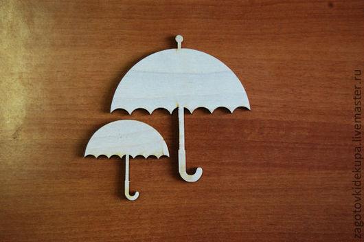 Набор зонтиков  (в наборе 2 шт.) Размеры: 11х11 см, 6х6 см. Материал: фанера 3 мм