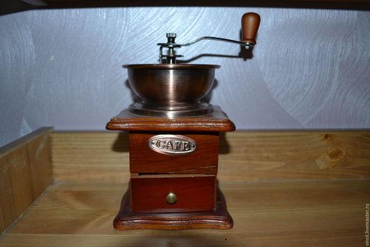 Кухня ручной работы. Ярмарка Мастеров - ручная работа. Купить кофемолка. Handmade. Коричневый, кофемолка, под старину, английская, дерево