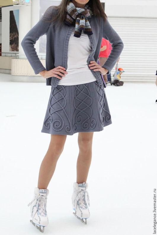 Вязание ручной работы. Ярмарка Мастеров - ручная работа. Купить Skate skirt инструкция (жакет и юбка - только для вязальной машины). Handmade.