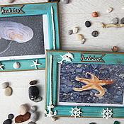 Сувениры и подарки handmade. Livemaster - original item Photo frames Sea holiday. Gift for Fefruary,23... Handmade.