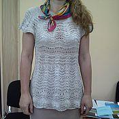 Одежда ручной работы. Ярмарка Мастеров - ручная работа ажурная летняя футболка. Handmade.