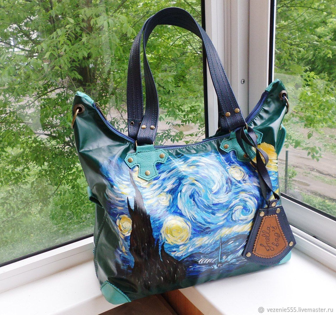 Leather women's bag with painting to order for Elena, Classic Bag, Noginsk,  Фото №1