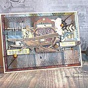 Открытки ручной работы. Ярмарка Мастеров - ручная работа Открытка для мужчины. Handmade.