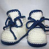 Пинетки ручной работы. Ярмарка Мастеров - ручная работа Пинетки-ботиночки. Handmade.
