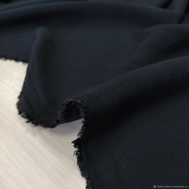 Креп черный CRV11-1 – купить на Ярмарке Мастеров – LBZR2RU | Ткани, Королев