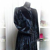 Одежда handmade. Livemaster - original item Silk velvet coat with lace. Handmade.
