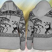 Одежда ручной работы. Ярмарка Мастеров - ручная работа Тату-свитер -  Охота (Чужие против оленей). Handmade.