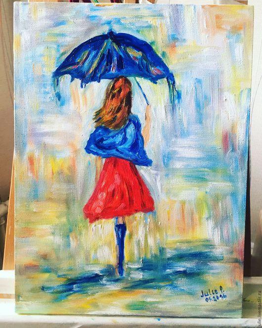 Люди, ручной работы. Ярмарка Мастеров - ручная работа. Купить Танец дождя, цитата Карен Тарлтон. Handmade. Комбинированный, девушка
