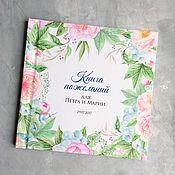 Свадебный салон ручной работы. Ярмарка Мастеров - ручная работа Свадебная книга или альбом для пожеланий гостей Пионы. Handmade.