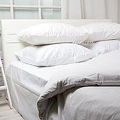 Комплекты постельного белья ручной работы. Ярмарка Мастеров - ручная работа Белое постельное белье сатин для гостиниц. Handmade.