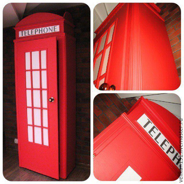 Шкаф в виде телефонной будки лондона своими руками 84