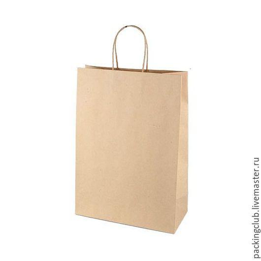 Упаковка ручной работы. Ярмарка Мастеров - ручная работа. Купить Крафт пакет крученые ручки 260х370х110. Handmade. Коричневый, упаковка