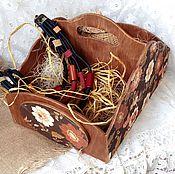 Для дома и интерьера ручной работы. Ярмарка Мастеров - ручная работа Bronze&Brown двухсекционный короб. Handmade.