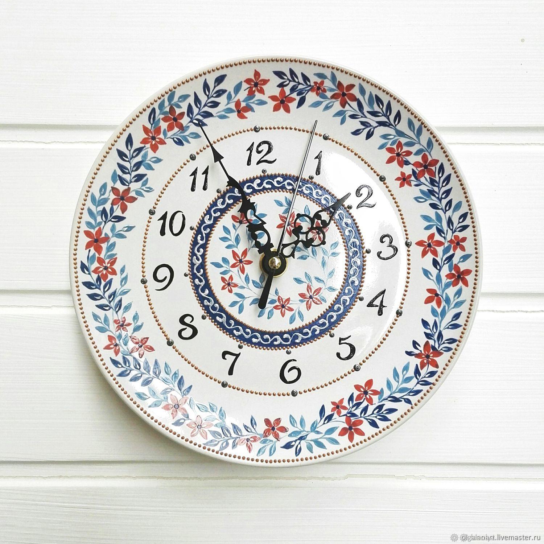 Часы настенные ручная роспись, Часы классические, Санкт-Петербург,  Фото №1