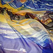 Аксессуары ручной работы. Ярмарка Мастеров - ручная работа Батик платок «Вечер». Handmade.