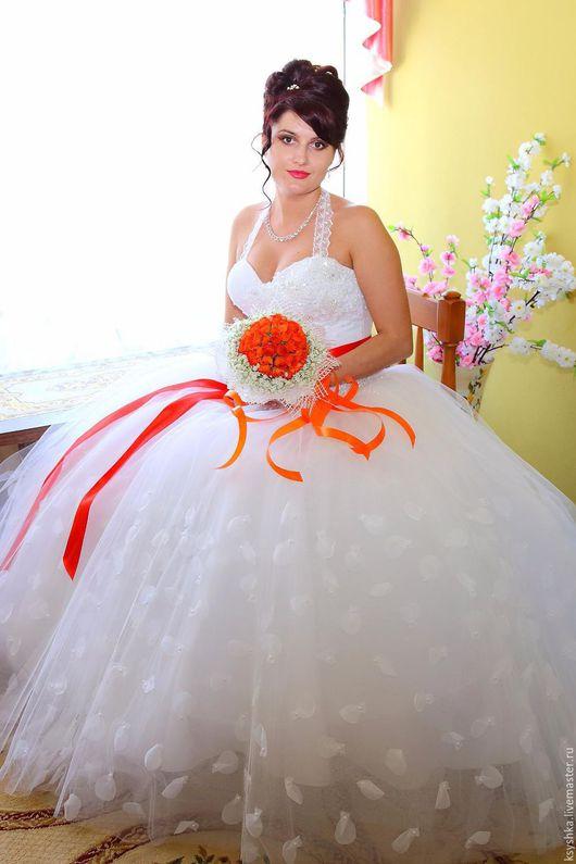 Одежда и аксессуары ручной работы. Ярмарка Мастеров - ручная работа. Купить Пояс для свадебного платья. Handmade. Ярко-красный