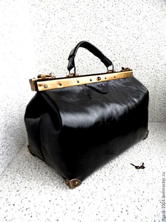 Женские сумки ручной работы. Ярмарка Мастеров - ручная работа. Купить ПЕРСОНА, именной саквояж 40 см, кожаный саквояж, инициалы. Handmade.