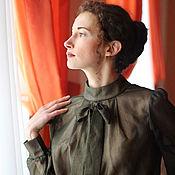 Одежда ручной работы. Ярмарка Мастеров - ручная работа Блузка Академия художеств из натурального шёлка. Handmade.