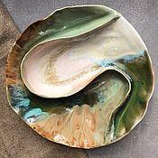"""Посуда ручной работы. Ярмарка Мастеров - ручная работа Блюдо-менажница """" По мотивам Исландии"""". Handmade."""