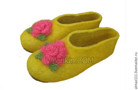 Обувь ручной работы. Ярмарка Мастеров - ручная работа. Купить валяные тапочки. Handmade. Валяные тапочки, валяные тапочки стильные