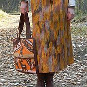"""Одежда ручной работы. Ярмарка Мастеров - ручная работа Юбка """"Рыжая осень"""". Handmade."""