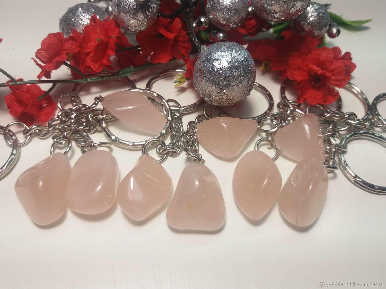 Брелок для ключей из розового Кварца, Брелок, Краснодар,  Фото №1