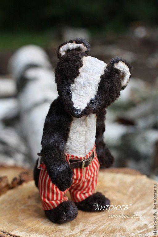 """Мишки Тедди ручной работы. Ярмарка Мастеров - ручная работа. Купить """"Хитрюга"""". Handmade. Авторская работа, мишки тедди, штанишки"""