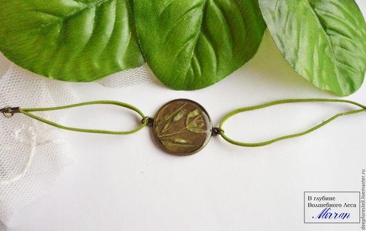 Браслеты ручной работы. Ярмарка Мастеров - ручная работа. Купить браслет с гусиным луком. Зеленый браслет. Летнее украшение. Handmade.