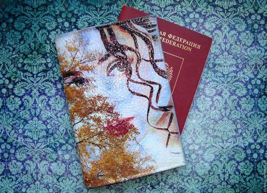 Обложки ручной работы. Ярмарка Мастеров - ручная работа. Купить Обложка для паспорта ВЗГЛЯД... Handmade. Паспорт, обложка на паспорт