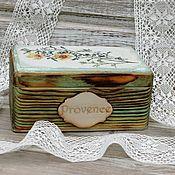Для дома и интерьера handmade. Livemaster - original item Box buttercups array of conifers. Handmade.