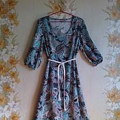 Одежда ручной работы. Ярмарка Мастеров - ручная работа Платье женское из натуральной ткани. Handmade.