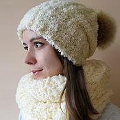 Аксессуары handmade. Livemaster - original item Hat with pompom. Handmade.