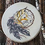 Музыкальные инструменты handmade. Livemaster - original item Fox. Drum leather. 35 cm. Handmade.