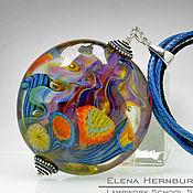 """Украшения ручной работы. Ярмарка Мастеров - ручная работа Кулон """"Морские цветы"""" 2. Лэмпворк. Handmade."""