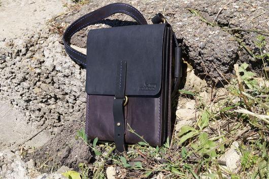 """Мужские сумки ручной работы. Ярмарка Мастеров - ручная работа. Купить мужская сумка """"Nastalgiya the Army"""" black. Handmade."""