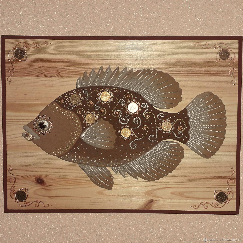 Body painting sand Cash fish, Painting feng shui, Yaroslavl,  Фото №1