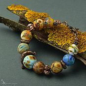 Украшения handmade. Livemaster - original item Autumn Day Lampwork Bead Bracelet. Handmade.